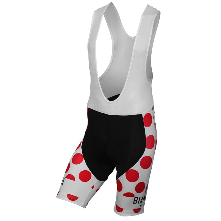 Cuissard à bretelles BIANCHI MILANO Victory Pois blanc-rouge