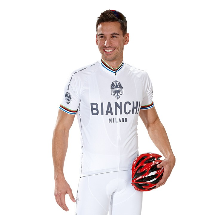 Maillot manches courtes BIANCHI MILANO Pride blanc
