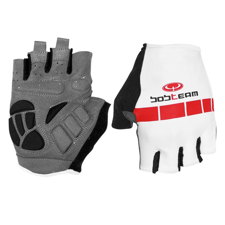 Gants BOBTEAM blanc-rouge