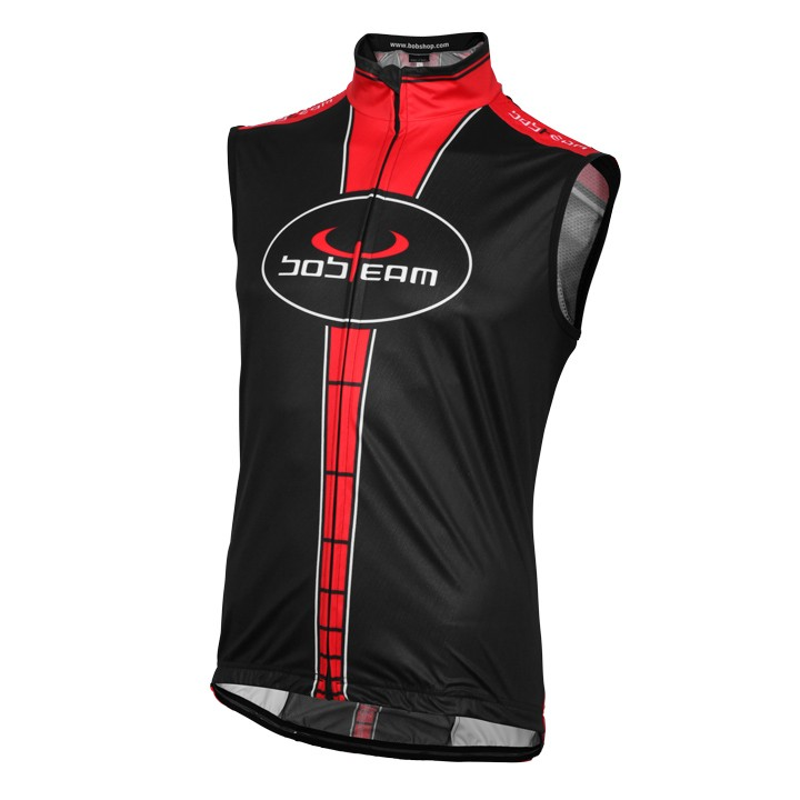 Gilet coupe-vent BOBTEAM noir-rouge