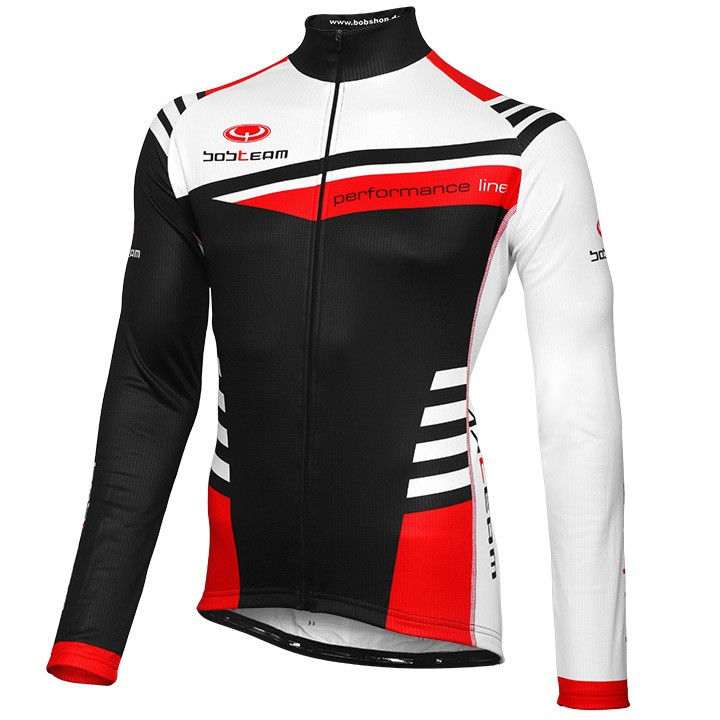 Maillot manches longues BOBTEAM PERFORMANCE LINE III noir-blanc-rouge