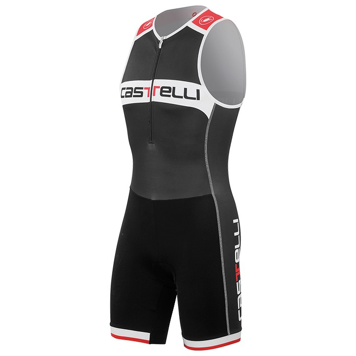 Body triathlon sans manches CASTELLI Core noir