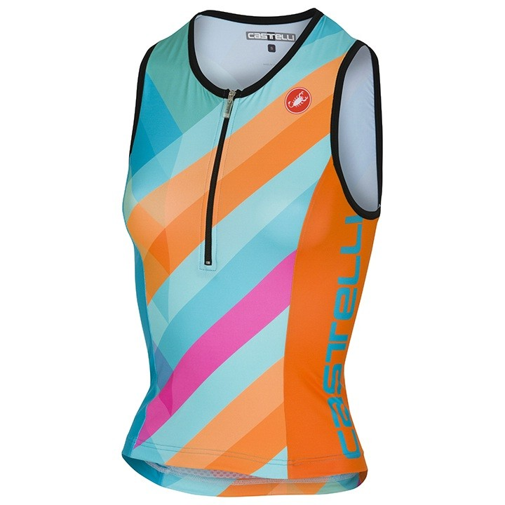 Débardeur triathlon femme CASTELLI Core 2 multicolor