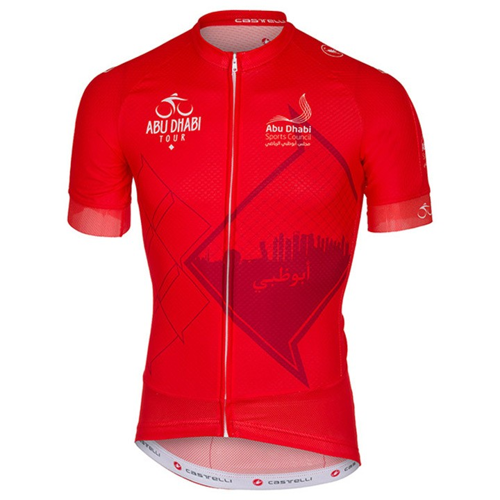 2016 Maillot manches courtes ABU DHABI TOUR rouge
