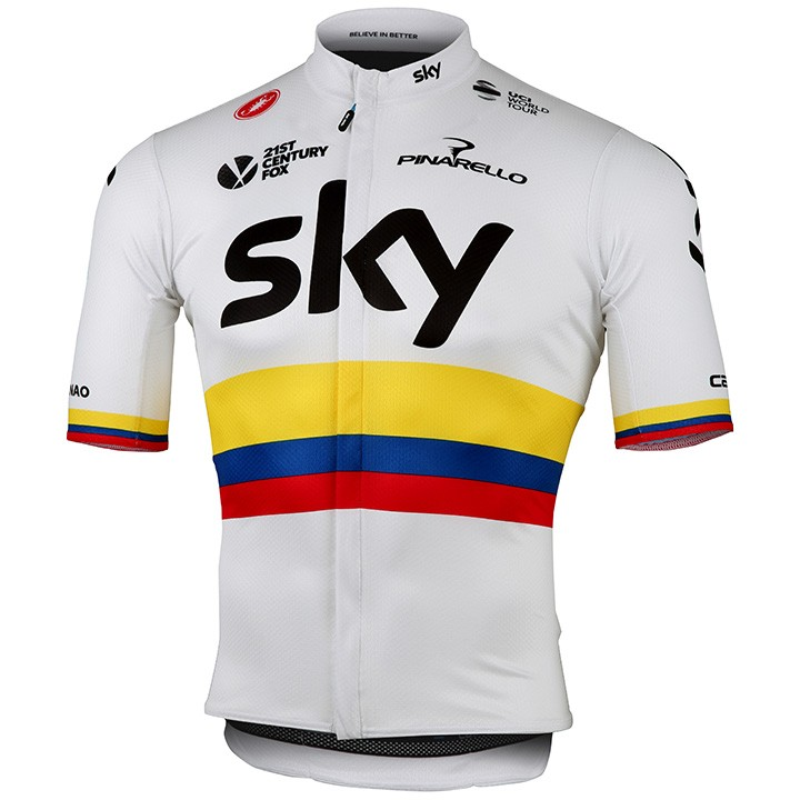 2017 Maillot manches courtes TEAM SKY Champion colombien