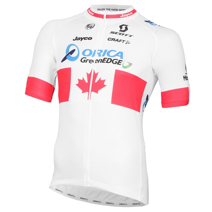 2015 Maillot manches courtes ORICA GREENEDGE Champion canadien