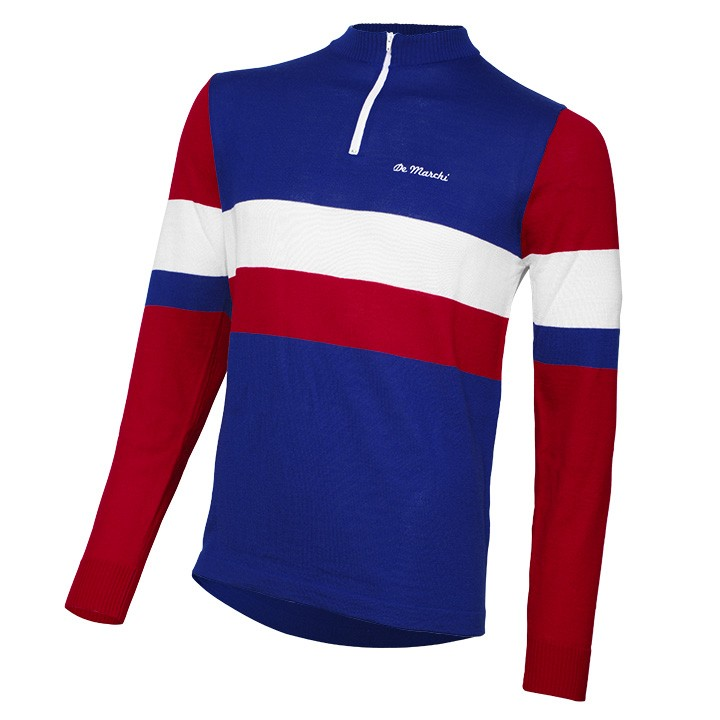 Maillot manches longues DE MARCHI Heritage Merino France