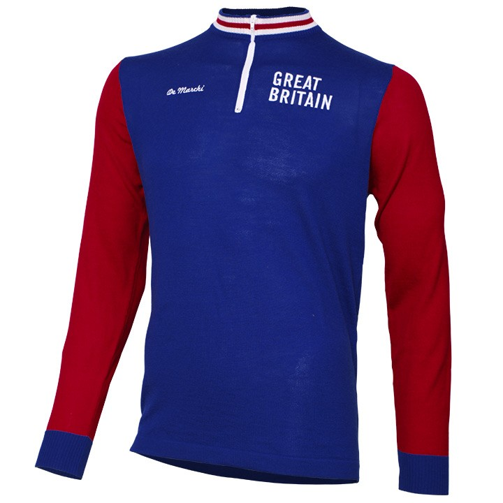 Maillot manches longues DE MARCHI Heritage Merino Great Britain