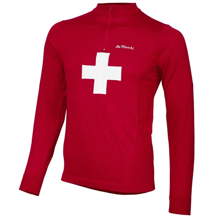 Maillot manches longues DE MARCHI Heritage Merino Switzerland