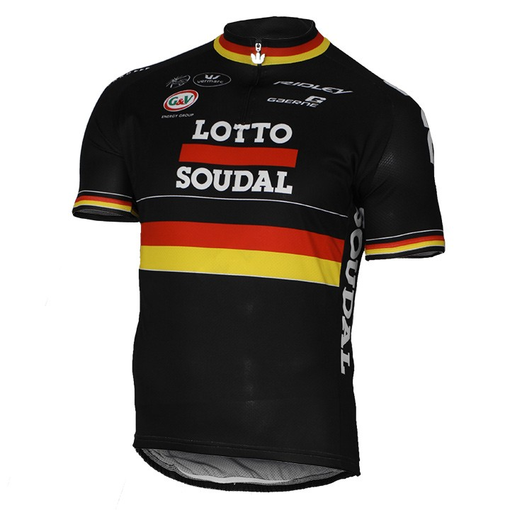 2016-2017 Maillot manches courtes LOTTO SOUDAL Champion allemand