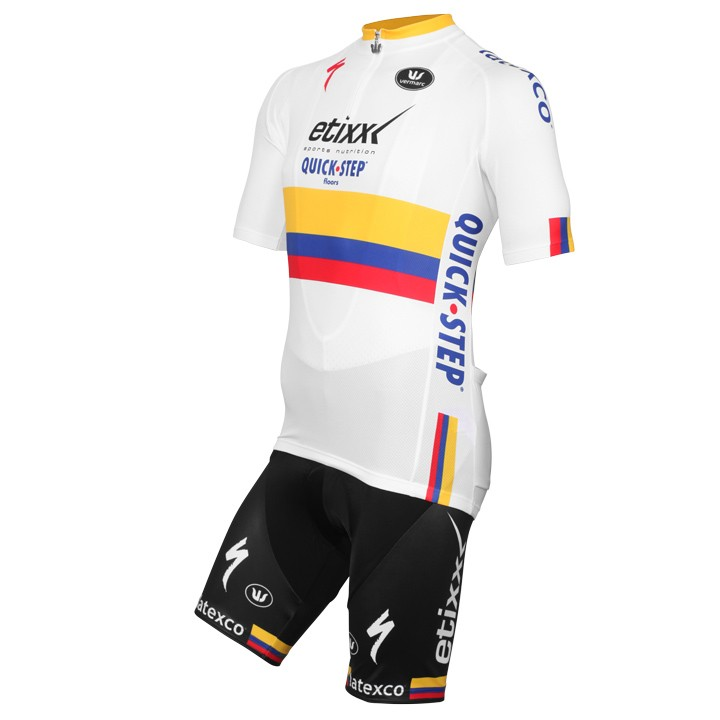 2015-2016 Set (2 pièces) ETIXX-QUICK STEP Champion du contre la montre colombien