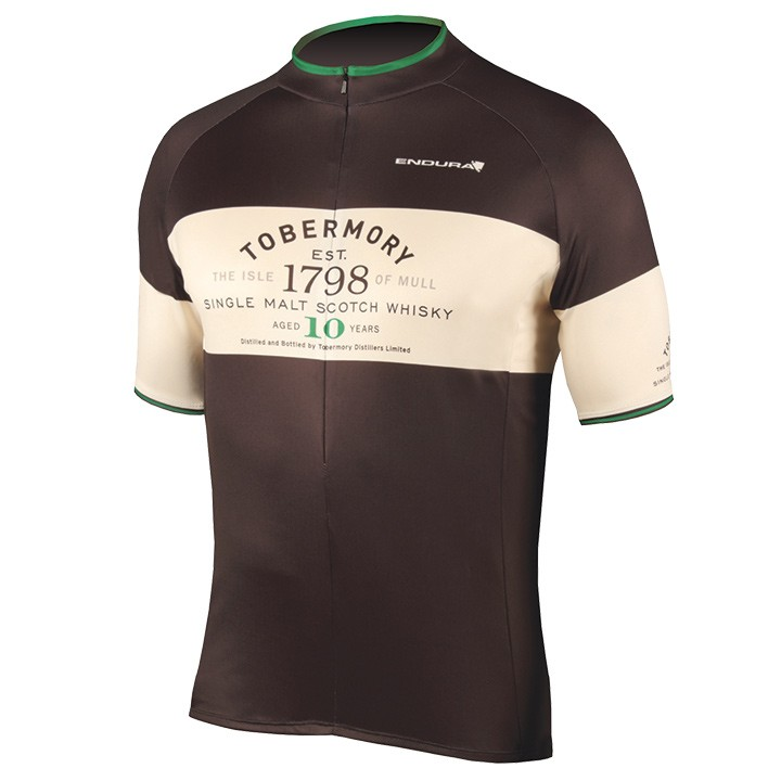 Maillot manches courtes ENDURA Tobermory Whisky noir