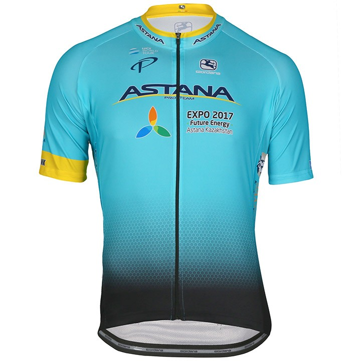 2017 Maillot manches courtes ASTANA PRO TEAM