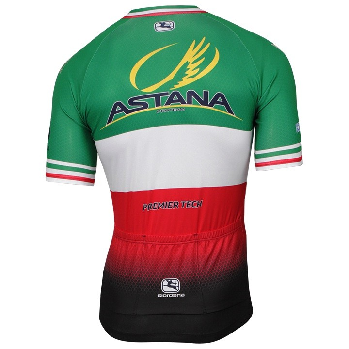 2017-2018 Maillot manches courtes ASTANA PRO TEAM Champion italien