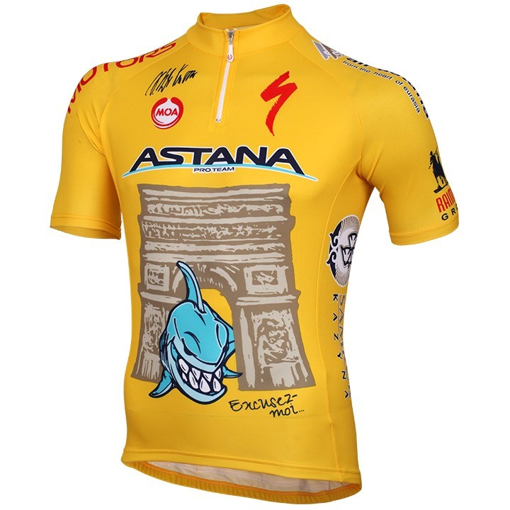 2014 Maillot manches courtes ASTANA PRO TEAM TDF Edition