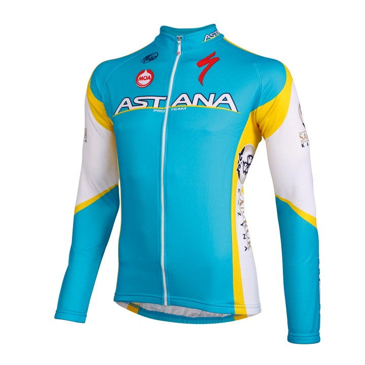 2012 Maillot manches longues ASTANA PRO Team