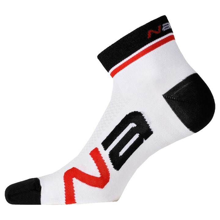 Chaussettes NALINI PRO Logo blanches-noires