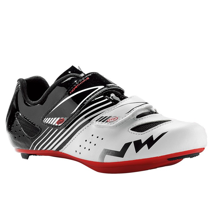 2018 Chaussures route enfant NORTHWAVE Torpedo Junior blanches-noires-rouges