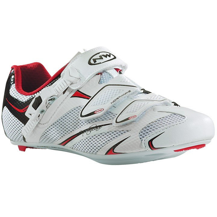 Chaussures route femme NORTHWAVE Starlight SRS blanches-noires-rouges