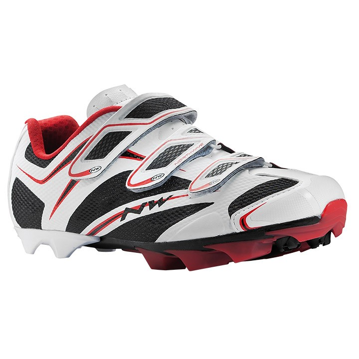 Chaussures VTT NORTHWAVE Scorpius 3S blanches-noires-rouges