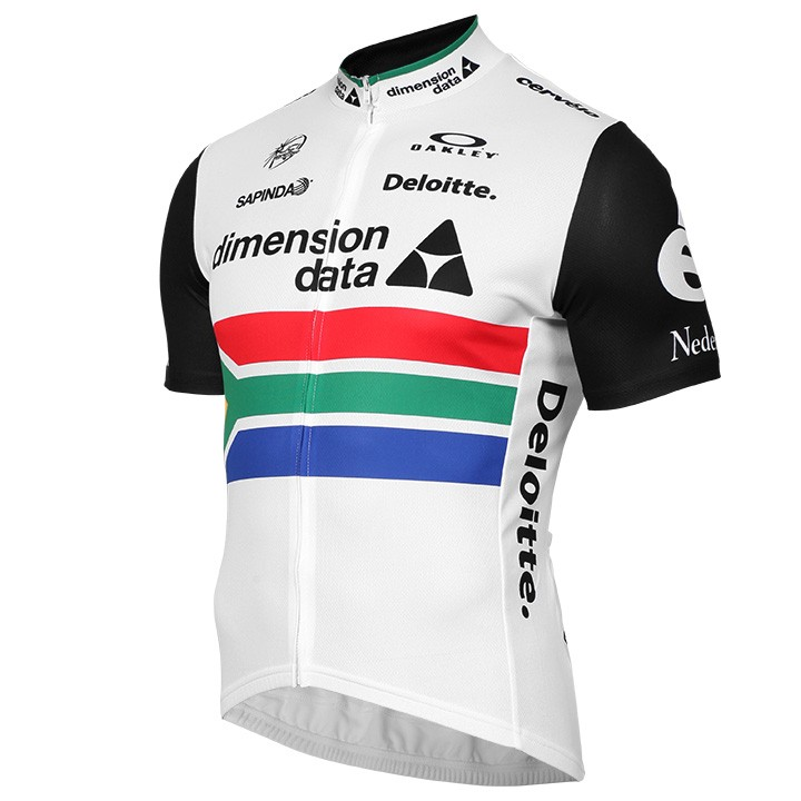 2016-2017 Maillot manches courtes TEAM DIMENSION DATA Champion sud-africain