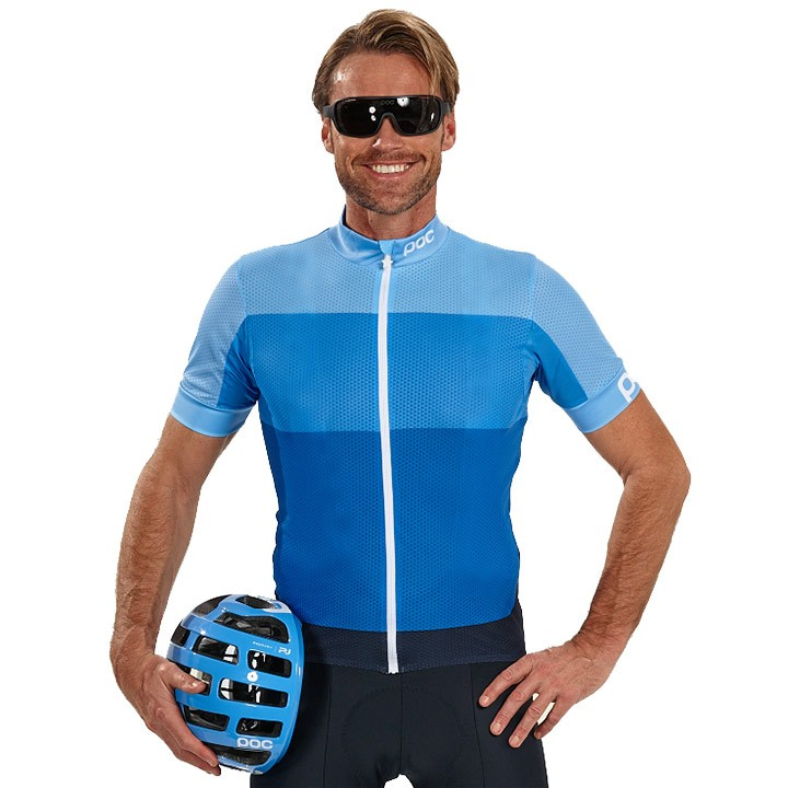 Maillot manches courtes POC Fondo Light multibleu