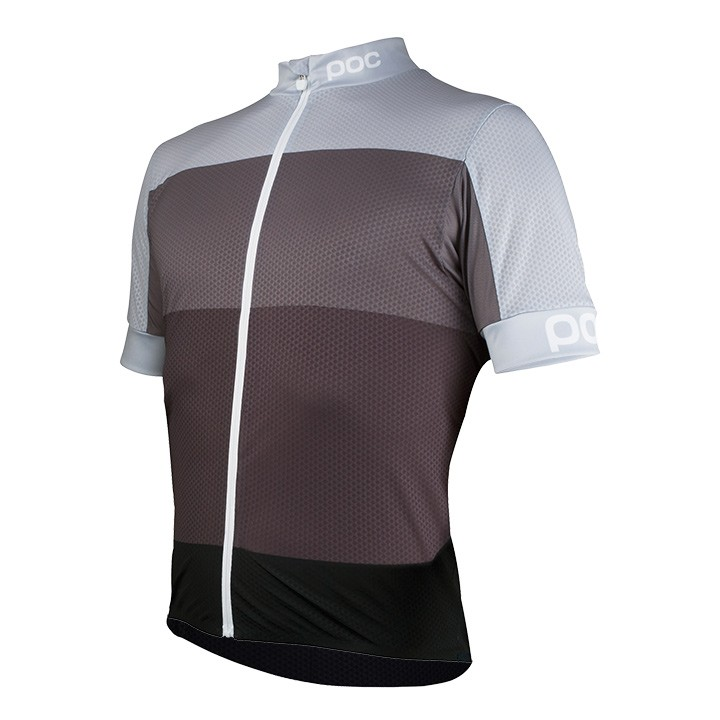 Maillot manches courtes POC Fondo Light multigris