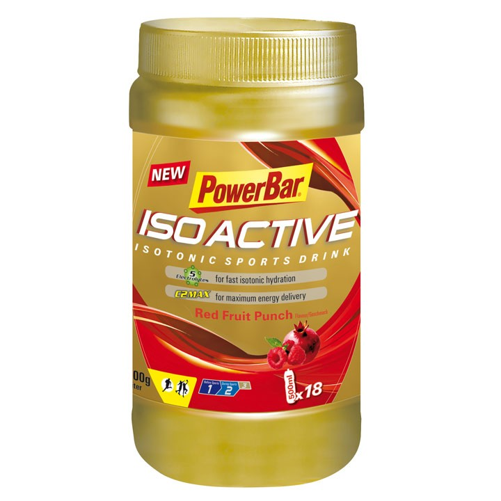 Isoactive-Isotonic Sports Drink Red Fruit 600gr