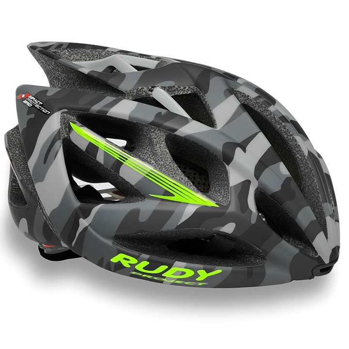 2018 Casque RUDY PROJECT Airstorm grey camo-lime fluo matte