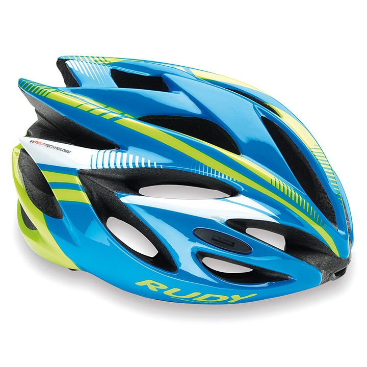 2018 Casque RUDY PROJECT Rush azur-lime fluo shiny