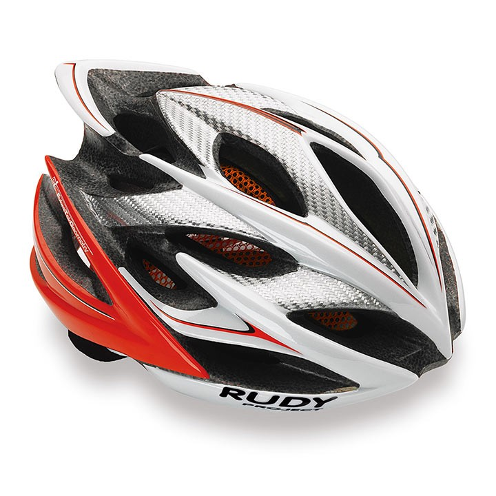 Casque RUDY PROJECT Windmax white-red fluo shiny