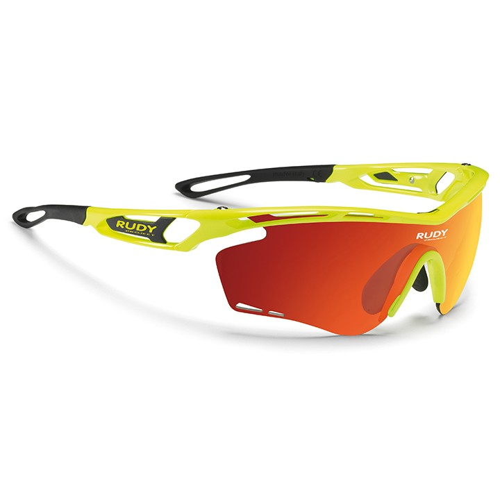 2018 Lunettes de cyclisme Tralyx yellow fluo gloss