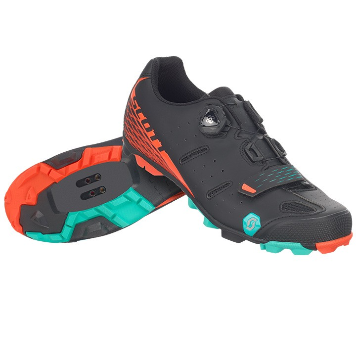 2018 Chaussures VTT SCOTT Elite Boa noires-orange