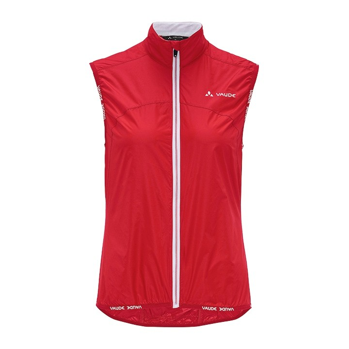 Gilet coupe-vent femme VAUDE Air II rouge
