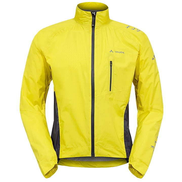 Veste imperméable VAUDE Spray IV jaune-grise