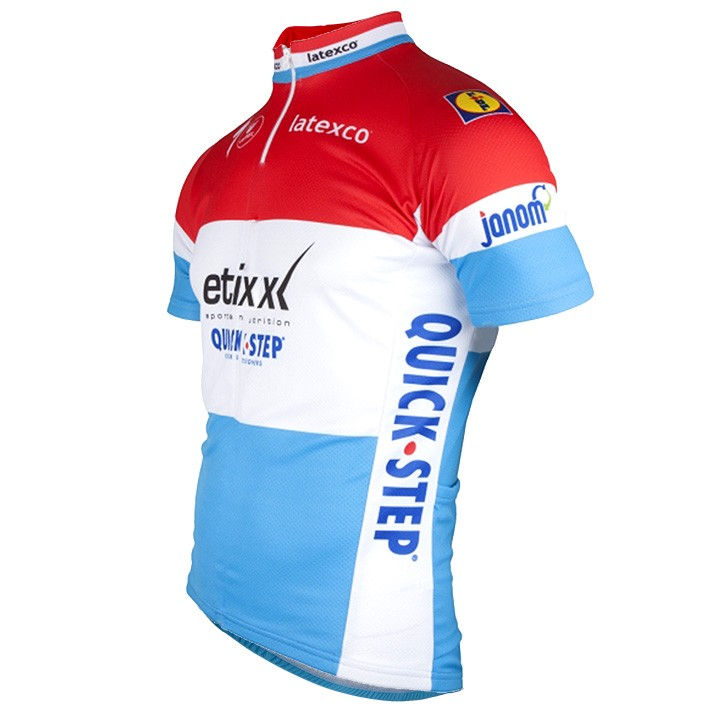 2016-2017 Maillot manches courtes ETIXX-QUICK STEP Champion luxembourgeois
