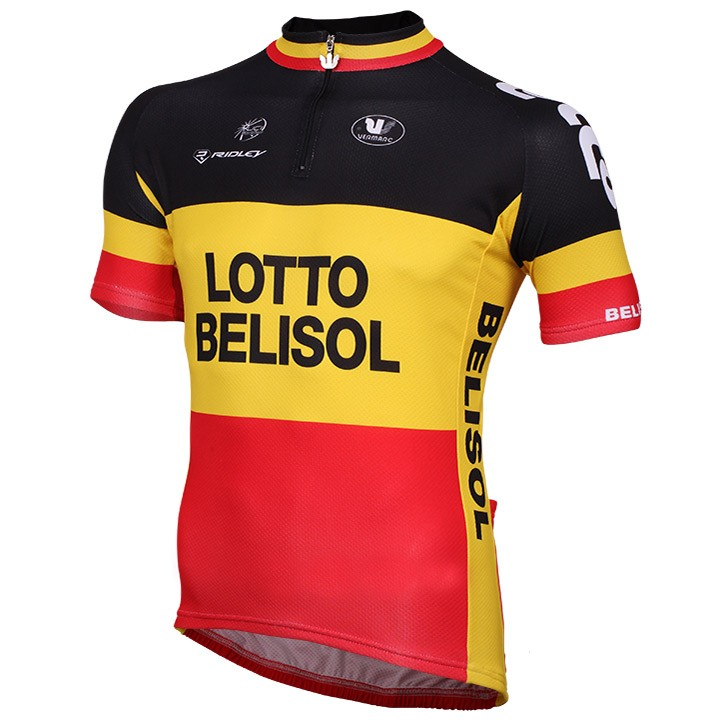 2014-2015 Maillot manches courtes LOTTO BELISOL Champion belge