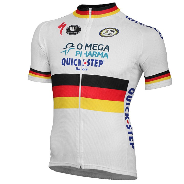 2014 Maillot manches courtes OMEGA PHARMA-QUICK-STEP Champion du contre la montre allemand