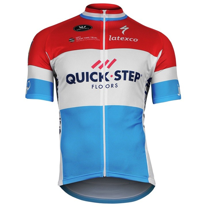 2017-2018 Maillot manches courtes QUICK-STEP FLOORS Champion luxembourgeois