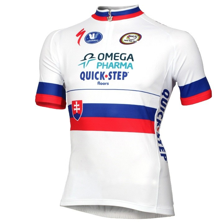 Maillot OMEGA PHARMA- QUICK-STEP Champion du contre la montre slovaque 14