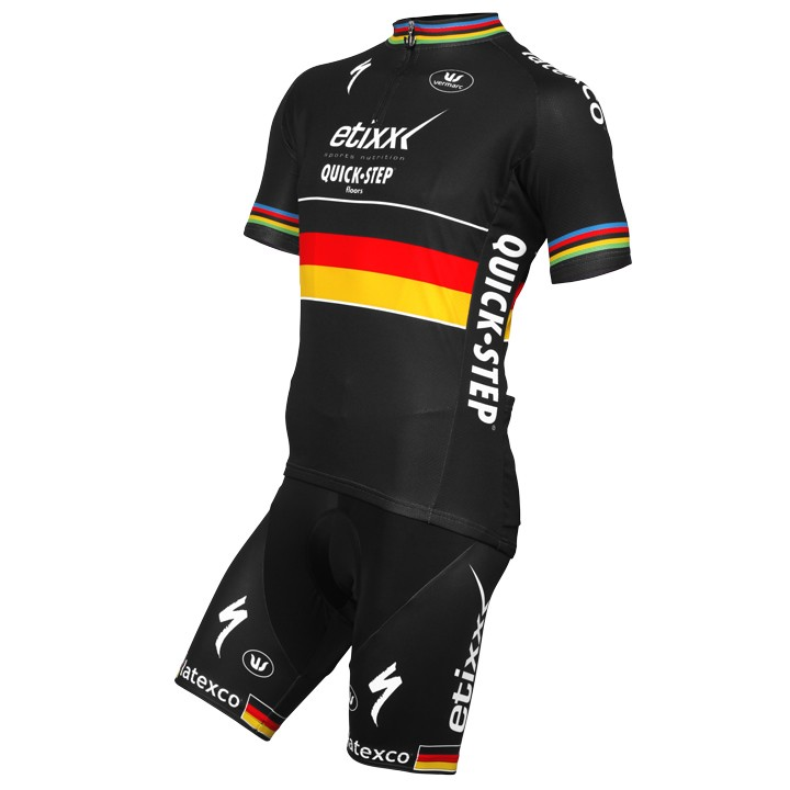 2015-2016 Set (2 pièces) ETIXX-QUICK STEP Champion du contre la montre allemand
