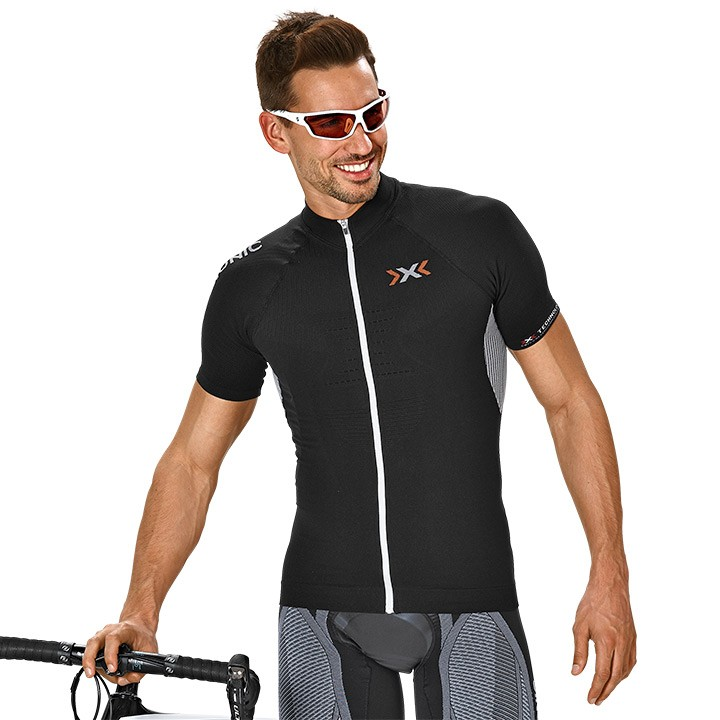 Maillot manches courtes X-BIONIC Bike Race The Trick noir-blanc