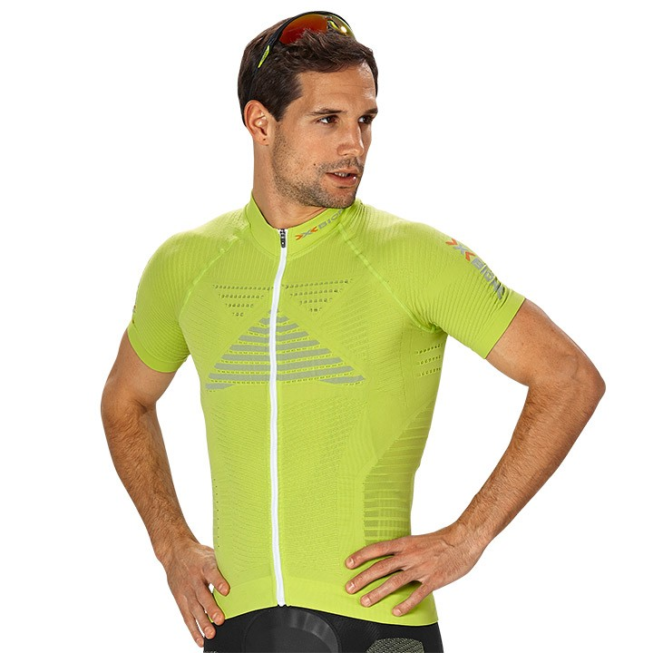 Maillot manches courtes X-BIONIC Effektor Power lime-gris