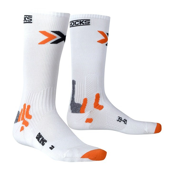 Chaussettes X-SOCKS Bike Mid Energizer blanches