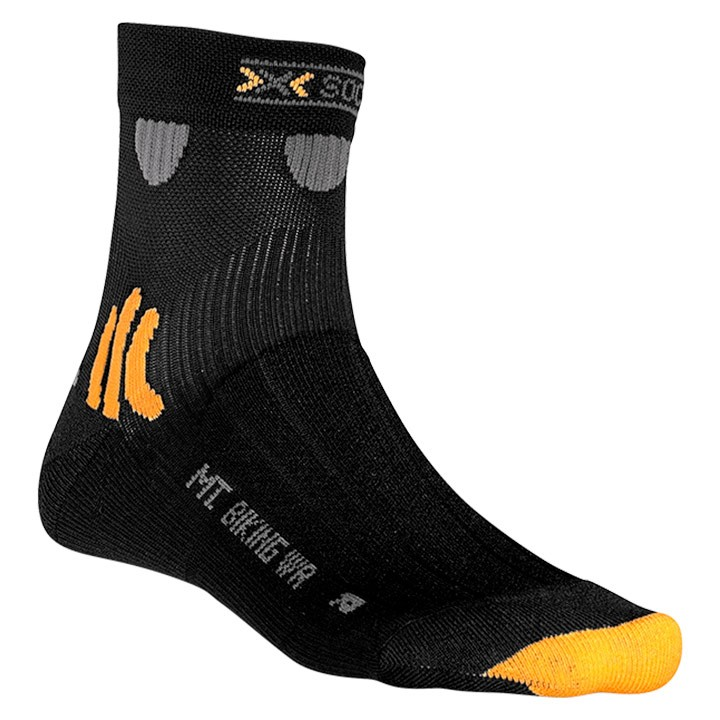 Chaussettes X-SOCKS Mountain Biking Water Repellent noires