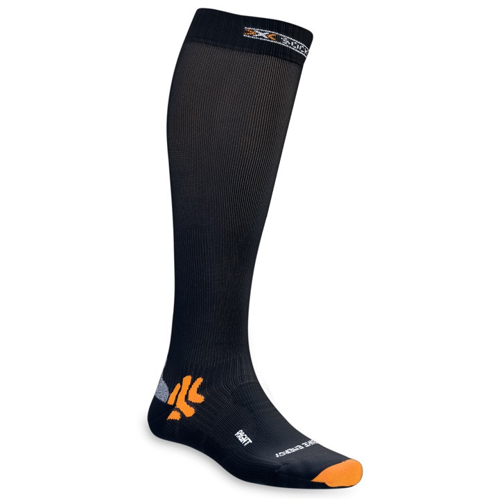 Mi-bas de contention X-SOCKS Bike Racing Energizer noirs