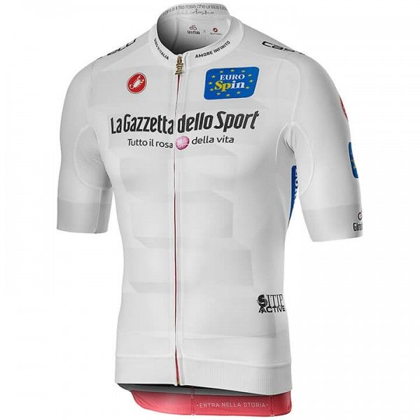 2019 Maillot manches courtes Race GIRO D'ITALIA Maglia Bianca - Équipe Cycliste Professionnelle