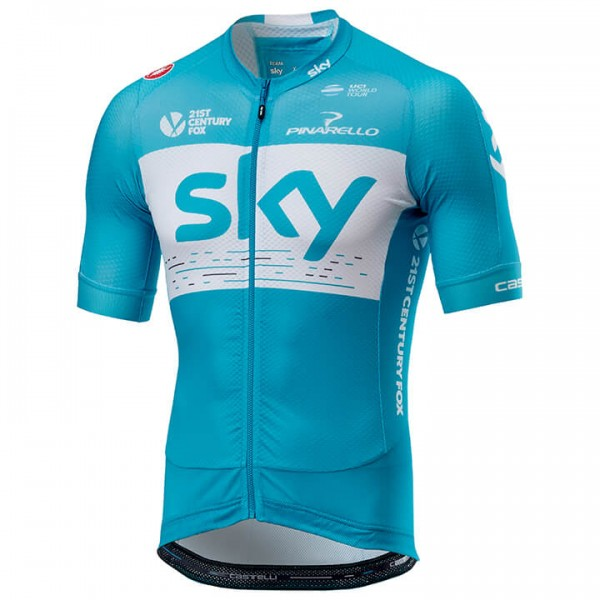 2018 Maillot manches courtes Team Sky Aero Training - Équipe Cycliste Professionnelle